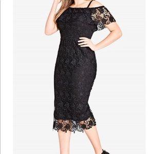 NWOT, Lace Off Shoulder Dress by City Chic, Sz 18